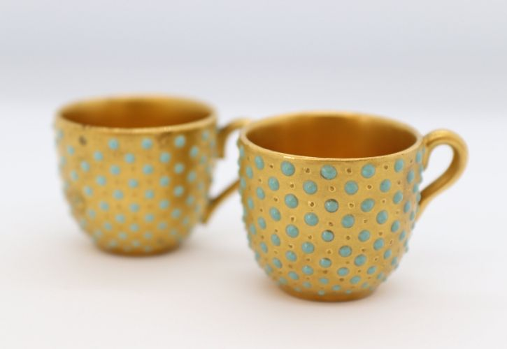 Coalport pair of miniature cups Image