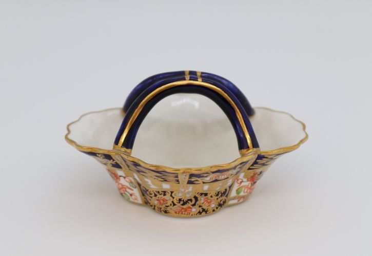 Crown Derby Miniature twin handled basket Image