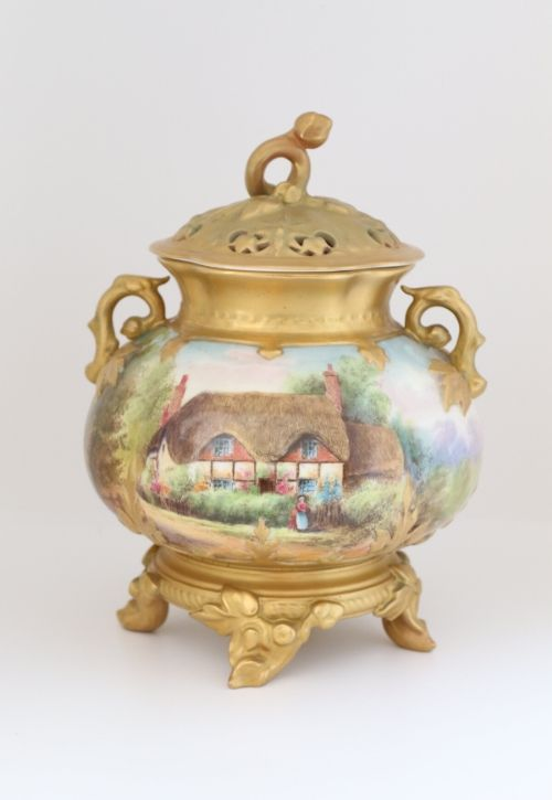 Royal Worcester Pot Pourri Vase Image