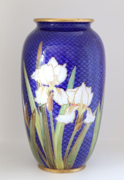 Doulton enamelled vase Image