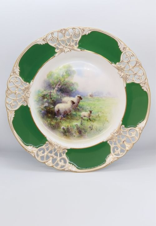 Royal Worcester Harry Davis pierced plate Image