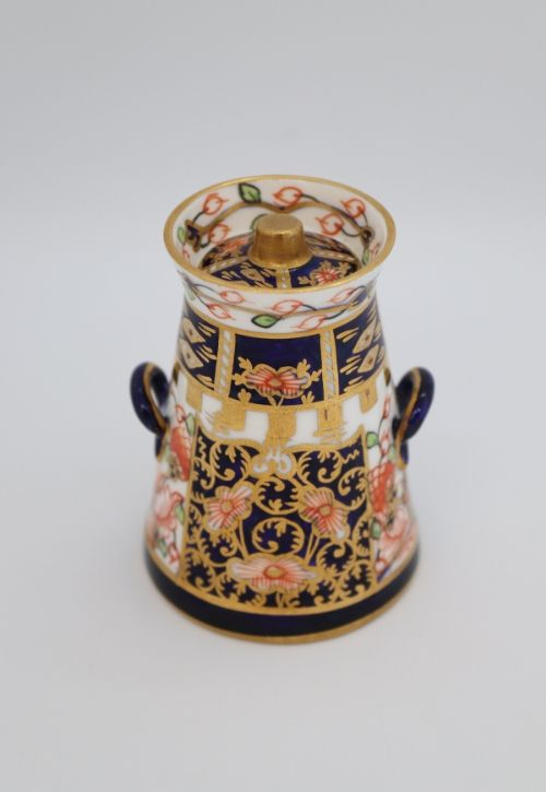 Crown Derby miniature milk churn Image