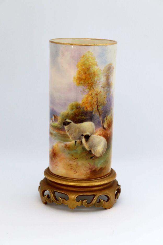 Royal Worcester Davis cylindrical vase Image